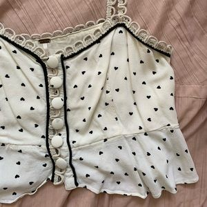 Free People heart crop top